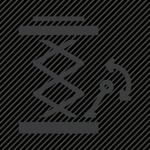 garage, hosit, jack, lift, repair, service icon