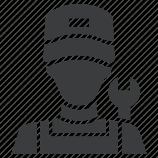 avatar, car, expert, garage, mechanic, plumber, service icon