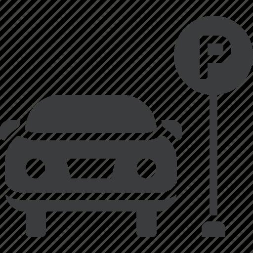 Car, lot, park, parking, space, zone icon Car Parking Icon Png