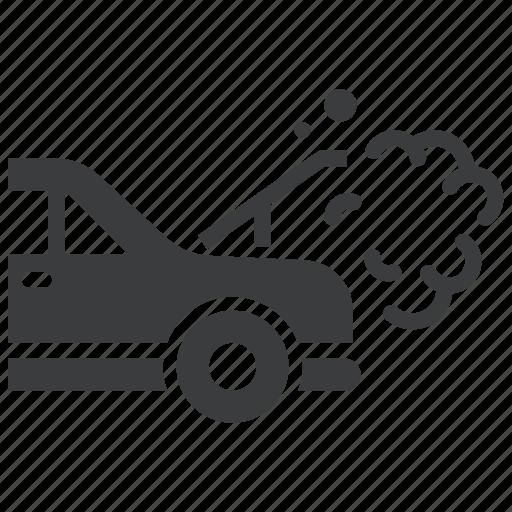 Breakdown, car, heat, radiator, repair icon