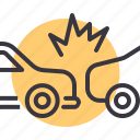accident, car, collision, crash icon