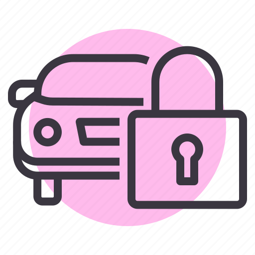 car, engine, lock, protection, safety, security icon