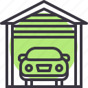 car, garage, park, parking icon