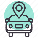 map, car, sale, garage, location, marker, gps