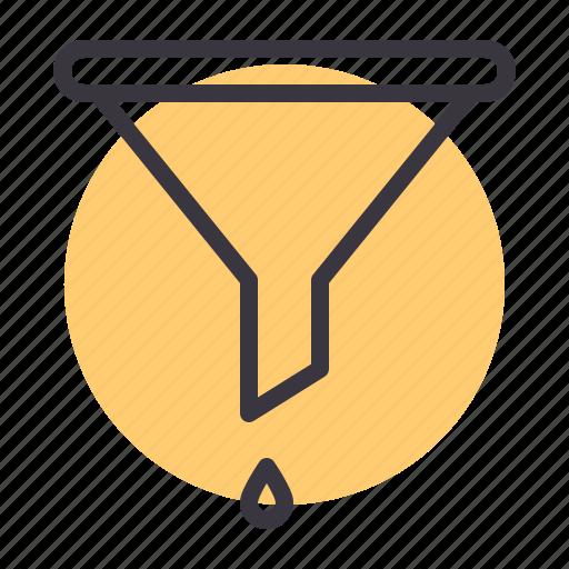 funnel, garage, maintenance, oil, service icon