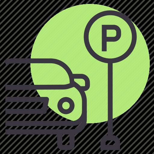 car, lot, park, parking, space, zone icon
