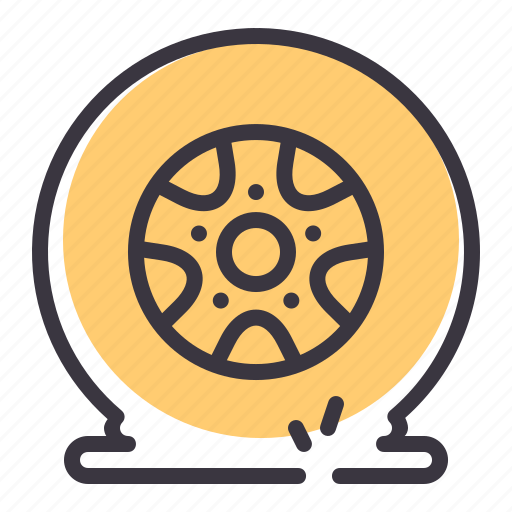 car, flat tire, puncture, repair, tire, tyre, wheel icon