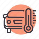 car, engine, maintenance, service, temperature, thermometer icon