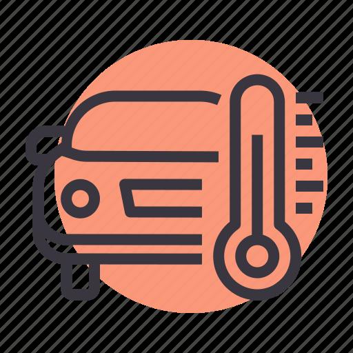 car, engine, maintenance, service, temperature, thermometer icon