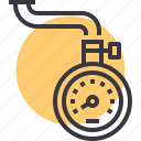 air, measure, meter, pressure, scale, tire, tyre icon