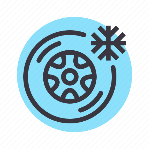 car, care, cold, maintenance, service, tire, tyre icon
