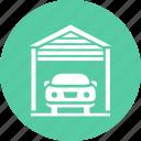 car, garage, park, parking