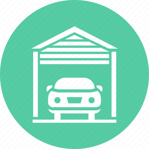 car, garage, park, parking icon