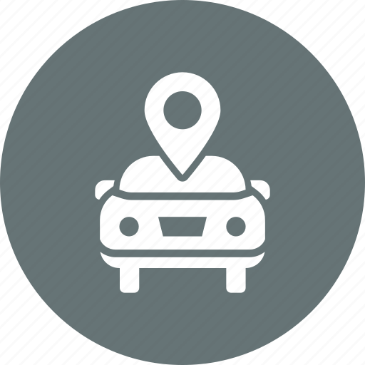 car, garage, gps, location, map, marker, sale icon