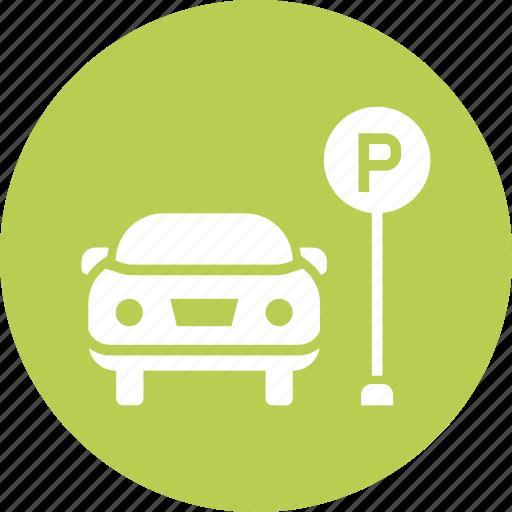Car, parking, zone, space, park, lot icon