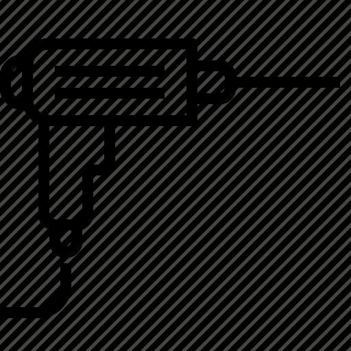 bore, drill, drilling, hole, machine, mechanic, tool icon