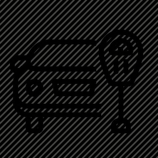 car, lot, park, parking, ticket, zone icon