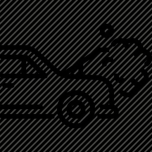 breakdown, car, heat, radiator, repair, service icon