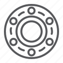 bearing, car, circle, vehicle, wheel icon