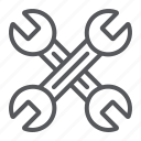 auto, crossed, key, mechanic, tool, wrenches icon