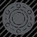bearing, car, circle, vehicle, wheel icon