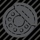 auto, brake, pads, part, shoe icon