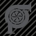 auto, car, detail, engine, part, turbine icon