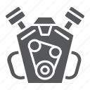 auto, car, engine, motor, part icon