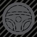 auto, drive, part, steering, wheel icon