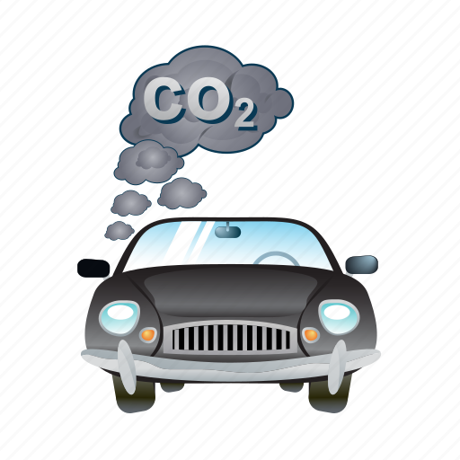automobile, car, smoke, transportation, vehicle icon