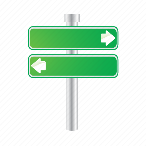 arrows, direction, green, left, pointer, sign icon
