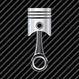 automobile, car, engine, piston, valve, vehicle icon