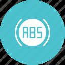 abs, brake, car, enable, engage, indicator, lgiht icon