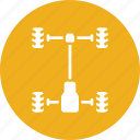 automobile, car, chassis, frame, service, vehicle, wheels icon