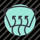 air, car, circulate, circulation, heat, windshield icon