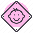 baby, board, car, child, on, safety, sticker icon