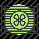 car, cooler, cooling, fan, part, service, ventilator icon