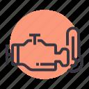 automobile, car, engine, indicator, part, service, temperature icon