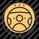 car, drive, power, steering, vehicle, wheel icon