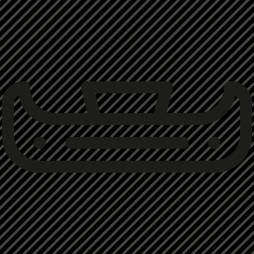 bumper, car, parts icon