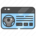 card, document, driving license, file, identification, transportation icon