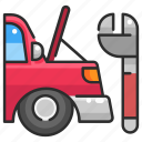 car, maintenance, repair, service, tool, transport, wrench icon