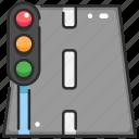 paths, road, street, traffic light, transportation, travel, ways icon