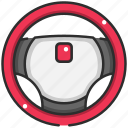 car, driving, racing, racing game, sports, steering wheel, transportation icon