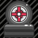 car wheel, drive, repair, tire, transport, truck, wheels icon