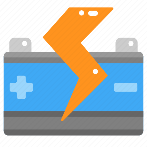 Battery, car, electronics, power, starter, transportation icon - Download on Iconfinder