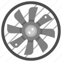 air conditioner, cooler, cooling, electronics, fan, fresh, ventilation icon