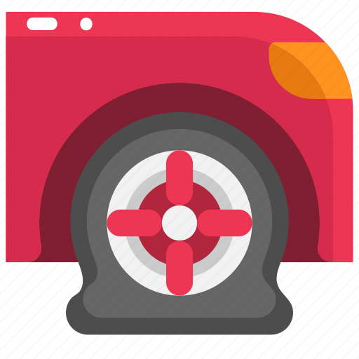 Car, flat tire, puncture, tire, transportation, wheel icon - Download on Iconfinder