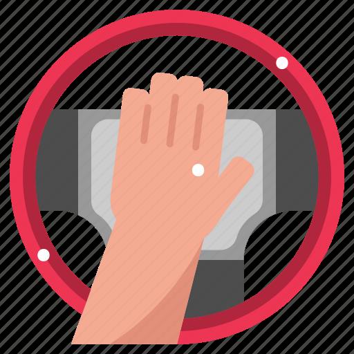 Car, horn, klaxon, steering wheel, transportation icon - Download on Iconfinder