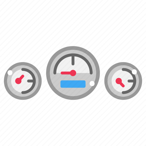 indicator, measure, measurement, meter, speedometer, technology, transportation icon